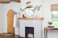 Our Favorite Fireplaces From Fixer Upper Chip and Joanna Gaines are pros at transforming ordinary fireplaces into eye-catching focal points. Check out some of Fixer Upper's hottest fireplace makeovers. Decor, House, Interior, Home, Fireplace Tile Surround, Fixer Upper Living Room, Tudor Style Homes, Fireplace, Hgtv Fixer Upper