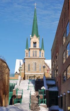 Our Lady of Lourdes Catholic Church, Minneapolis, MN (Best steps ever!)