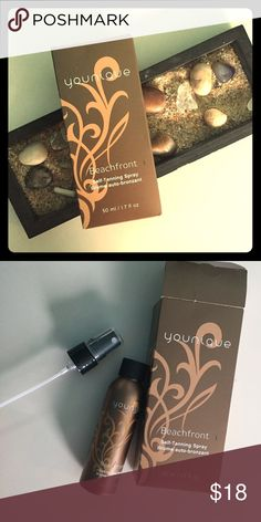 Younique self tanning spray Brand new in box.  Only opened to take pics.  Purchased less then 6 months ago for $25 for a wedding and forgot about it. Makeup