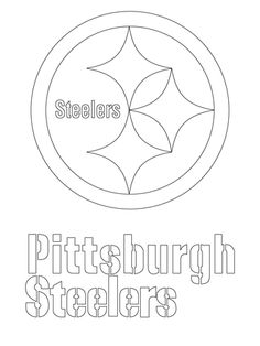 pittsburgh steelers logo coloring page from nfl category select from 21913 printable crafts of cartoons nature animals bible and many more - Steelers Coloring Pages Printable