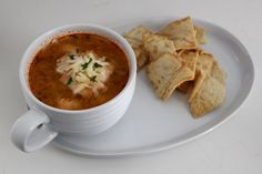 Spicy Buffalo Chicken and Cauliflower Soup