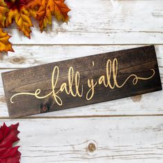 Show off your love of Fall with this beautiful farmhouse style wood sign. The simplicity of this wooden sign makes it the perfect versatile piece of decor that you can keep out from early Fall until Thanksgiving. Painted Wood Signs, Custom Wood Signs, Rustic Signs, Wooden Signs, Vinyl Signs, Rustic Crafts, Wood Crafts, Thanksgiving Decorations, Seasonal Decor