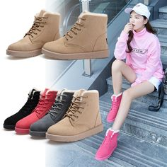 16.82$  Watch now - http://alio6g.shopchina.info/1/go.php?t=32749310558 - High Quality Women Boots Winter Casual Brand Warm Shoes Boots Leather Plush Fur Fashion Boots Shoes Woman 16.82$ #buymethat