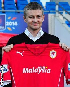 Ole Gunnar Solskjaer has been appointed Cardiff City's new manager. The 40-year-old former Manchester United striker has agreed a 12-month rolling contract with the Bluebirds.