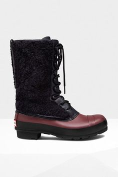 15 Pairs Of Snow Boots You Need To Snatch Up Now #refinery29  http://www.refinery29.com/popular-snow-boots#slide-11  Tuck in some skinny jeans, and these are great for non-snowy days, too.Hunter Original Shearling Lace-Up Boots, $295, available at Hunter....