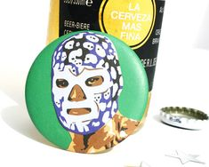 Lucha Libre Luchador  Mexican Wrestler Magnetic by ImagineAttic