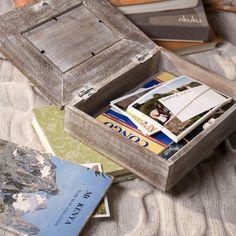 caja marco de madera
