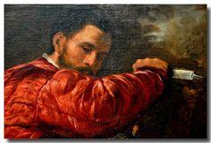 Giovanni Girolamo Savoldo (Italian, active 1506-1548)  Giovanni Girolamo Savoldo (Italian, active 1506-1548) - The Death of Saint Peter Martyr. Detail. 1530/1535. Art Institute of Chicago.