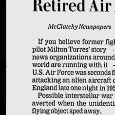 Sun Journal - Google News Archive Search UFOs in History Retired Pilot Tells Of UFO Encounter.