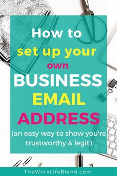 Take your business to the next level with your own branded business email address. This is a super easy way to look professional and like you've been in business for ages! This super simple guide shows you how to set up your business email address using y Business Emails, Business Branding, Business Tips, Online Business, Growing Your Business, Starting A Business, How To Start A Blog, How To Make Money, Motto