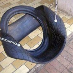 tire recycling diy - I've never seen this version of a tire swing. by luz