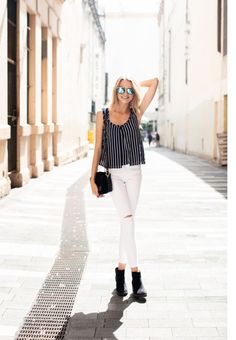 """Ellipse Striped Top 