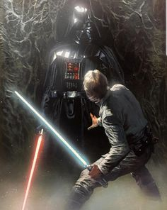 Luke Skywalker Vs Darth Vader In Degobah - Sun Tutorial and Ideas Star Wars Saga, Vader Star Wars, Star Wars Fan Art, Luke Skywalker, Anakin Dark Vador, Film Sf, Disneysea Tokyo, Starwars, Jedi Sith