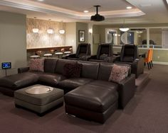 examplary bar home furniture seating room in media ater
