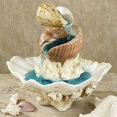 The beauty of the beach can be found indoors with the Shell Island Table Fountain. Polystone tabletop water fountain features shells that are stacked atop coral pieces. Submersible, UL listed pump is included. Seashell Art, Seashell Crafts, Shell Island, Tabletop Water Fountain, Deco Nature, Island Table, Sea Crafts, Shell Beach, Beach House Decor