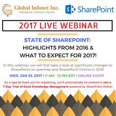 [WEBINAR]: State of SharePoint : Highlights from 2016 and What to Expect for 2017?