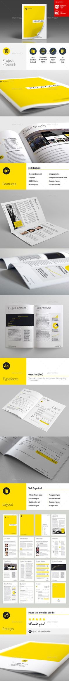 Creative Project Proposal Template Design Download Http