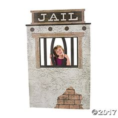 Jail Cell Photo Stand-Up. A wild west jail cell is rootin' tootin' for school plays! Great for school classrooms, Western-themed birthday parties and . Wild West Theme, Wild West Party, Wild West Games, Cowboy Theme Party, Cowboy Birthday, Western Party Games, Country Birthday, Farm Party, Sleepover Party