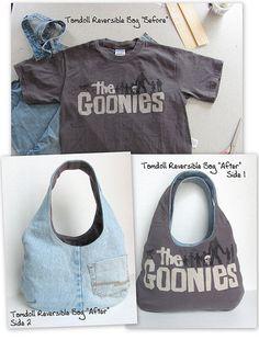 """Reversible Goonies Bag """"Before"""" & """"After"""" by tamdolloriginal, via Flickr"""