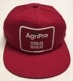 df7e17c9be8 Vtg AgriPro Sonja Wheat Hat K Products Made In The USA Patch Cap Farming Ag  US
