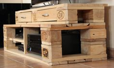 TV-Board aus Euro-Palette / Tv rack made of Euro pallet / Upcycling                                                                                                                                                                                 Mehr