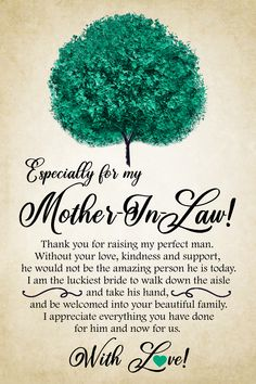 Especially for my Mother-in-law, thank you for raising my perfect man. Without your love, kindness and support, he would not be the amazing person he is today. Prayers For My Mother, Mother In Law Quotes, Prayer For Mothers, Mom Prayers, Mother Poems, Happy Mother Day Quotes, Mother Day Wishes, Happy Mothers Day, Mother Gifts