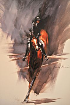 equestrian equine cheval pferde caballo stadium show jumping | chestnut bay jumper art