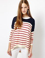 Vero Moda Oversized Stripe Slouchy Jumper