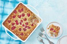 Rasberry and banana baked oatmeal