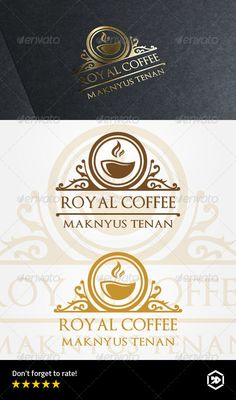 Royal Coffee Cafe — Vector EPS #cafe #best • Available here → https://graphicriver.net/item/royal-coffee-cafe/7989100?ref=pxcr