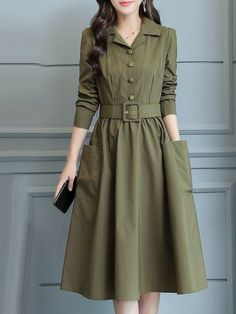 Stylish Dresses For Girls, Stylish Dress Designs, Modest Dresses, Simple Dresses, Casual Dresses, Short Dresses, Girls Fashion Clothes, Fashion Dresses, Clothes For Women