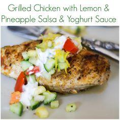 ... grilled-chicken-with-lemon-pineapple-salsa-yoghurt-sauce #Chicken #