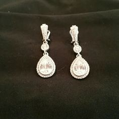Judith Ripka Earrings Beautiful J.R. earrings, the pictures do not do the sparkle justice. These are in excellent used condition. They do not come with J.R. bag or box. Judith Ripka Jewelry Earrings