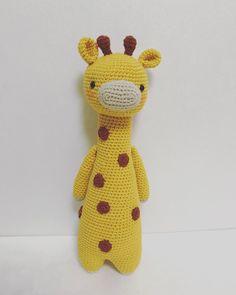 Giraffe by myoungsookang. Crochet pattern by Little Bear Crochets: www.littlebearcrochets.com ❤️ #littlebearcrochets #amigurumi