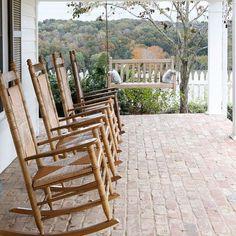Julie Couch (@juliecouchinteriors) • Instagram photos and videos Rocking Chair, Front Porch, Backyard, Exterior, Couch, Flooring, Photo And Video, Porches, Life