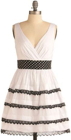 Modcloth Swingtown Sweetie Dress in White (red)   Lyst