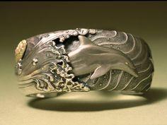 Sterling Silver Jewelry Bracelets : Bracelet: by Jim Kelso. Body Jewelry Shop, Sea Jewelry, Dolphin Jewelry, Mermaid Jewelry, Jewelry Art, Sterling Silver Jewelry, Silver Jewellery, Fine Jewelry, Fashion Jewelry