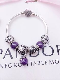 50% OFF!!! $199 Pandora Charm Bracelet Purple. Hot Sale!!! SKU: CB01088 - PANDORA Bracelet Ideas