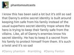 Damn I never thought about this<<<<<< This convinces me more that Danny is supposed to be a trans boy