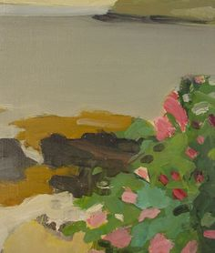 "Fairfield Porter, American, 1907-1976, ""Roses in Bloom, Maine"""