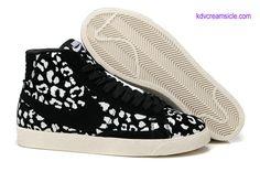 Nike Blazer Mid Print Girls Black Leopard 536696 014