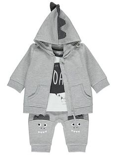 Dinosaur Hoodie, Top and Bottoms Set, read reviews and buy online at George. Shop from our latest range in Outfits. Get your little dino-mite fully kitted out w...