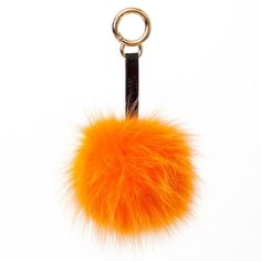 Orange fur/faux fur chain for your handbag by Surell Accessories. Available at ShopSurell.com
