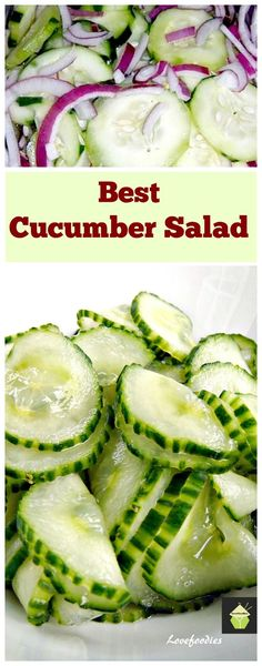 Easy Cucumber Salad.