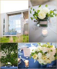 Chicago Wedding by LK Events - Navy Blue & White - Peggy Notebaert Museum - Photo by Ben Elsass Photography