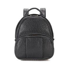Alexander Wang Women's Dumbo Pebble Leather Backpack - Black/Rose Gold... (4,065 ILS) ❤ liked on Polyvore featuring bags, backpacks, studded backpack, alexander wang backpack, pebbled leather bag, pebbled leather backpack and backpack bags