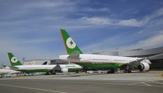 EVA Air of Taiwan takes delivery of 2 Boeing aircraft. It is the first airline in the world to operate the fuel efficient extended range airliner with Panasonic's in-flight entertainment system. Airplane Photography, Travel Photography, Boeing 777, Honda Odyssey, Amazing Race, Entertainment System, Dance Moms, Photo Book, Planes
