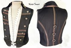Steampunk men's vests | Steampunk vest men pirate waistcoat by ManicManx on Etsy