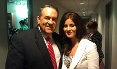 Lila Rose with Governor Mike Huckabee.