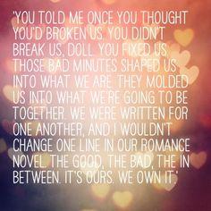 You didn't break us, Doll you fixed us....Gavin   Blake- Pulse
